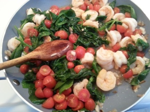 Shrimp Tomato Spinach